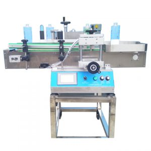 Ampoule Self Adhesive Sticker Labeling Machine With Feeding