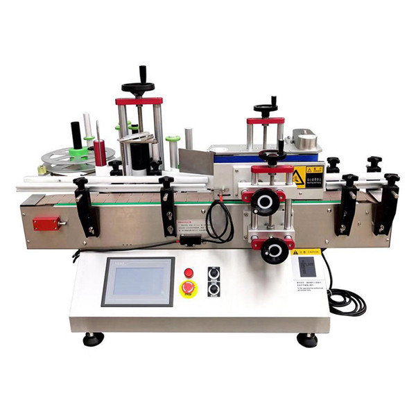Mașină automată de etichetare a sticlelor de masă
